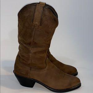 "Durango 11"" slouch boots tan cowboy leather SZ.7"